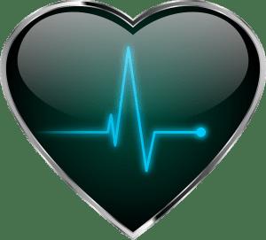 Hart met daarin een hartslag